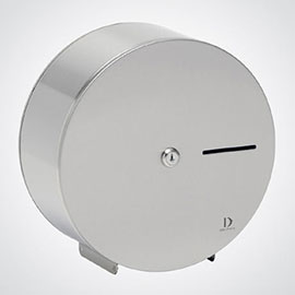 Dolphin - Satin Stainless Steel Mini Jumbo Toilet Paper Dispenser - BC925