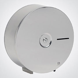 Dolphin - Satin Stainless Steel Jumbo Toilet Paper Dispenser - BC936
