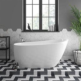 Turin 1520 Small Modern Slipper Free Standing Bath
