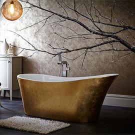 Heritage Holywell Freestanding Acrylic Bath (1710 x 745mm) - Gold Effect