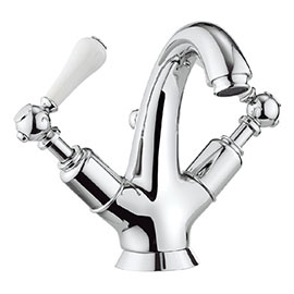 Crosswater - Belgravia Lever Highneck Monobloc Basin Mixer Tap with Pop-up Waste - BL112DPC_LV