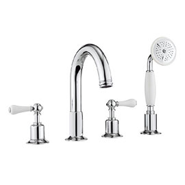 Crosswater - Belgravia Lever 4 Tap Hole Bath Shower Mixer with Kit - BL440DC_LV