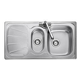 Rangemaster Baltimore 1.5 Bowl Stainless Steel Kitchen Sink