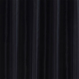 Black W1800 x H2000mm Polyester Shower Curtain