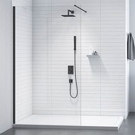 Merlyn Black Showerwall Wetroom Screen