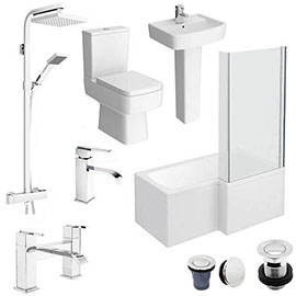 Bliss L-Shaped 1500 Complete Bathroom Package