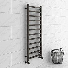 Brooklyn Square 1200 x 500mm Black Nickel Heated Towel Rail