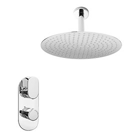 Bosa Twin Concealed Thermostatic Valve + 400mm Rainfall Shower Head
