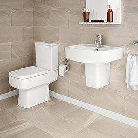 Brooklyn 4-Piece Modern Bathroom Suite (with Semi Pedestal)