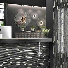 Brooklyn Glass & Stone Mosaic Tile Sheet - 292 x 303mm
