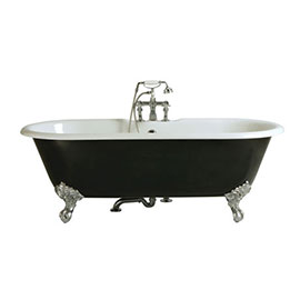 Heritage Buckingham Roll Top Cast Iron Bath (1700x770mm) with Feet