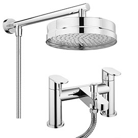 Bosa Modern Bath Shower Mixer Inc. Overhead Rainfall Shower Head
