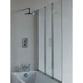 Britton Bathrooms - Three Panel Folding Bathscreen - BS4