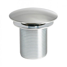 Crosswater - Unslotted Free Flow Basin Waste with Extended 100mm Thread - BSW0133C