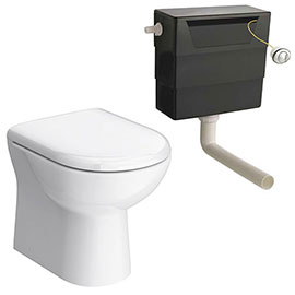 Back To Wall Toilet with Soft Close Seat + Concealed Cistern