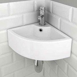 Bermuda Corner Cloakroom Basin 1TH - 335 x 335mm