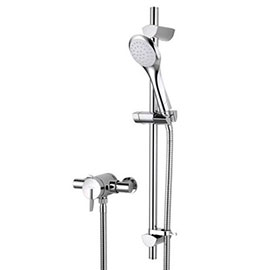 Bristan Sonique2 Exposed Thermostatic Surface Mounted Shower Valve with Adjustable Riser
