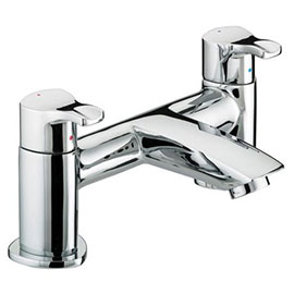 Bristan Capri Contemporary Pillar Bath Filler - Chrome - CAP-BF-C