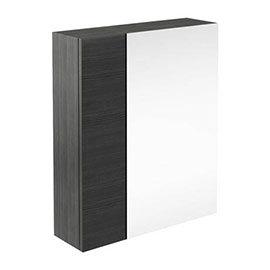 Brooklyn 600mm Bathroom Mirror & Fascia Cabinet - Black