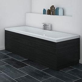 Brooklyn Black Wood Effect Bath Panel - Various Sizes