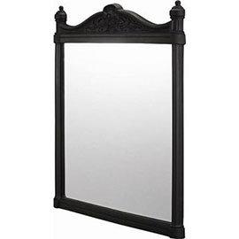 Burlington Georgian Mirror with Black Aluminium Frame - T47BLA
