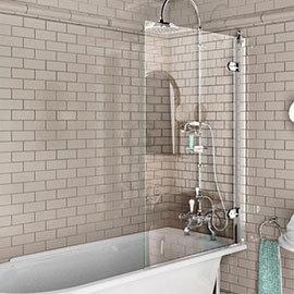 Burlington - Hinged Bath Screen - 850 x 1450mm - BU43
