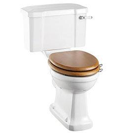 Burlington Regal Close Coupled Traditional Toilet - Ceramic Lever Flush
