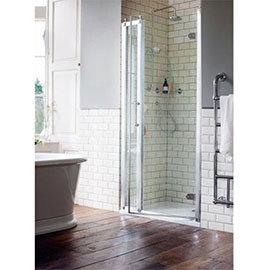 Burlington Traditional Recessed Hinged Shower Door with 1 x Inline Panel