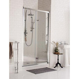 Burlington Traditional Soft Close Recessed Sliding Shower Door