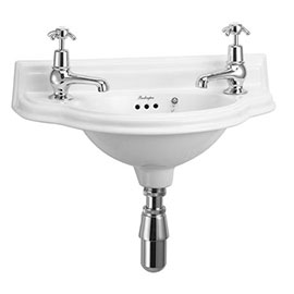 Burlington Traditional Wall Mounted Curved Cloakroom Basin - P13