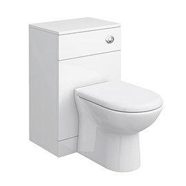 Cove 500mm BTW Toilet Unit Inc. Cistern + Soft Close Seat (Depth 330mm)