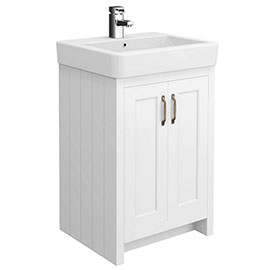 Chatsworth Traditional White Vanity - 560mm Wide