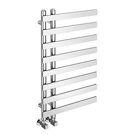 Arezzo Chrome 800 x 500mm 8 Bars Designer Heated Towel Rail