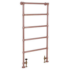 Castleford Traditional Copper 1550 x 626mm Steel Towel Rail