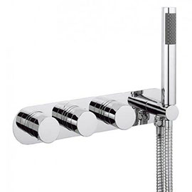 Crosswater Central Thermostatic Shower Valve with 3 Way Diverter & Shower Kit - CE3701RC