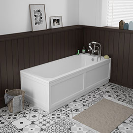 Chatsworth 1700 x 700 Single Ended Bath + White Panels