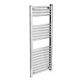 Diamond Heated Towel Rail - W400 x H1200mm - Chrome - Straight