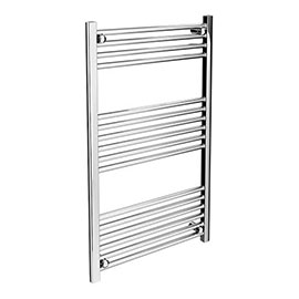Diamond Heated Towel Rail - W600 x H1000mm - Chrome - Straight