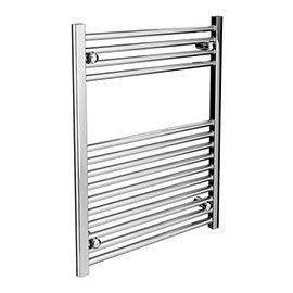 Diamond Heated Towel Rail - W600 x H800mm - Chrome - Straight