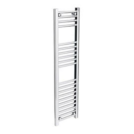 Diamond Heated Towel Rail - W300 x H1200mm - Chrome - Straight