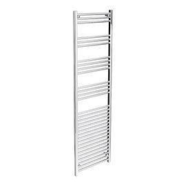 Diamond Heated Towel Rail - W500 x H1800mm - Chrome - Straight
