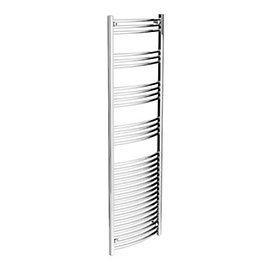 Diamond Curved Heated Towel Rail - W500 x H1800mm - Chrome