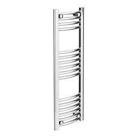 Diamond Curved Heated Towel Rail - W300 x H1000mm - Chrome