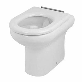 RAK Compact Special Needs 425mm High Rimless Back to Wall WC Pan