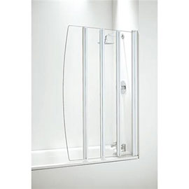 Coram Four Panel Folding Bath Screens - 2 Colour Options