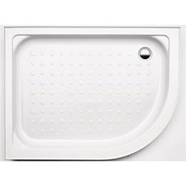 Coram Offset Quad Shower Tray with Upstands & Waste - 1200 x 900mm - Left or Right Hand