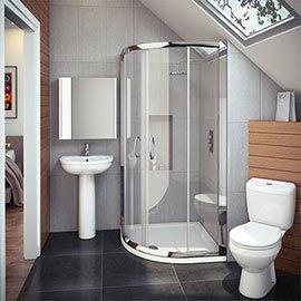 Cove En Suite Bathroom Suite inc. Quadrant Enclosure