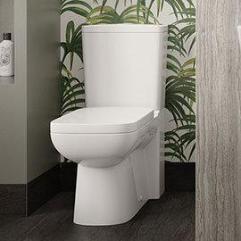 Hudson Reed Arlo Flush to Wall Toilet + Soft Close Seat