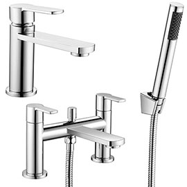 Brooklyn Modern Tap Package (Bath Shower Mixer + Basin Tap)