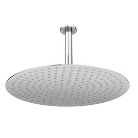 Cruze Large 400mm Thin Round Shower Head + Ceiling Mounted Arm